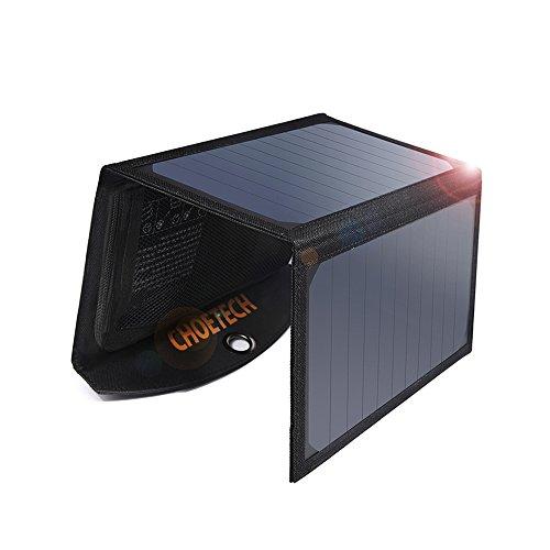Solar Ladegerät CHOETECH 19W Regenbestädiges & Faltbares Solarpanel für iPhone, Galaxy S7/S8/S8 Plus, iPad und andere Handys
