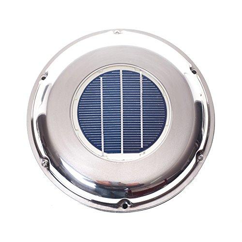 WATTSTUNDE Marine Solarlüfter für Wohnmobile und Boote aus Edelstahl - Lüfter als Bootsausführung Seewasserfest (VBE)