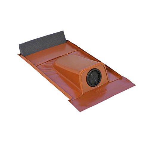Dachziegel für Solaranlagen, Rohrdurchführung, Typ Ton Schwarzgrau pulverbeschichtet