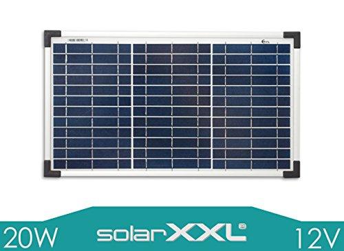 SolarXXL 20 Watt Solarpanel Polykristallin 12V - Volt TÜV zertifiziert Solarmodul Offgrid Camping - solarXXL